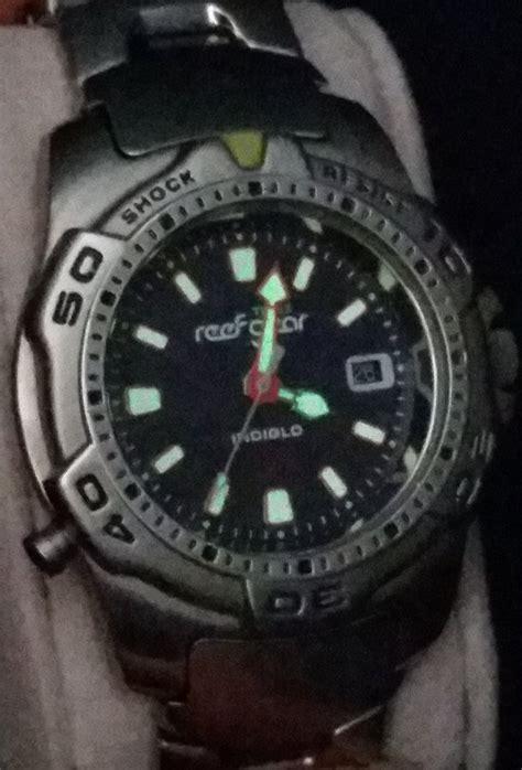 fs timex reef gear  rare version indiglo  dive