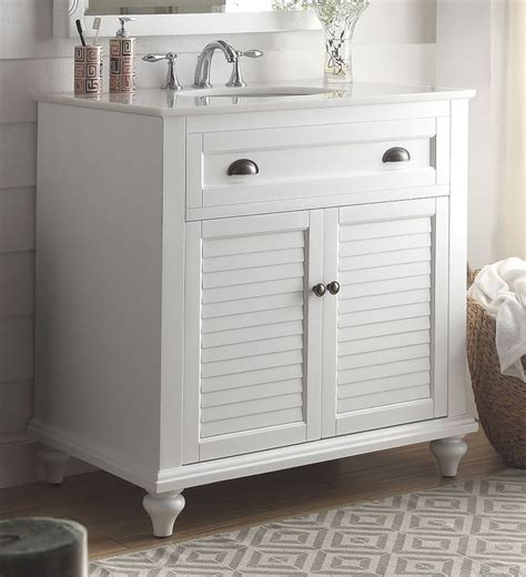 Cottage Style Bathroom Vanities Cabinets by 34 Inch Bathroom Vanity Coastal Cottage Style White