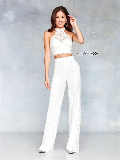 Clarisse Dress Lace Two Piece Pant Set Prom