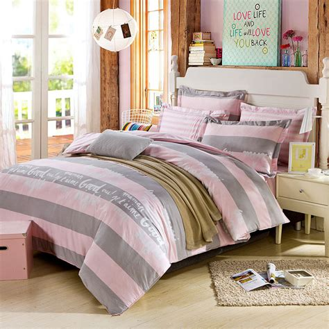 light pink and grey bedding beautiful dull grey and pink cotton bedding set ebeddingsets
