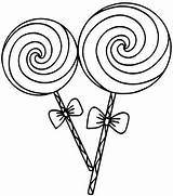 Coloring Lollipop Candy Mitraland sketch template