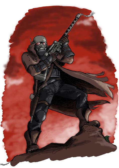 Fallout New Vegas Lonesome Road Wallpaper Fallout New Vegas Courier Number 6 By Darcad On Deviantart