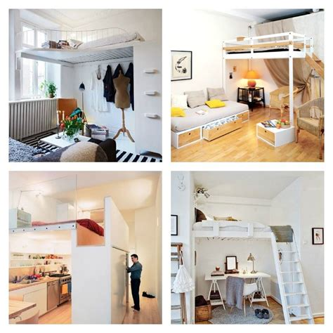 chambre adulte petit espace lit mezzanine adulte et aménagement de petits espaces