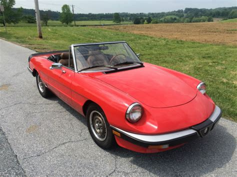 The Graduate Alfa Romeo by 1985 Alfa Romeo Spider Graduate For Sale Photos