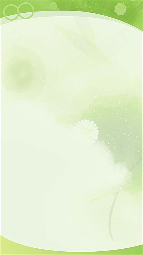 simple green background curves flowers vector background