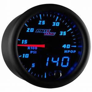 Black  U0026 Blue Maxtow High Pressure Oil Pressure Gauge