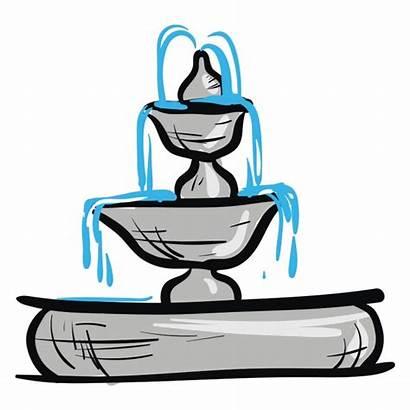 Fountain Water Fontaine Eau Giardino Pngtree Fontana