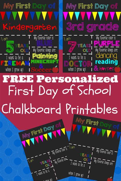 day of school chalkboard template day of school chalkboard sign template free printable day of school chalkboard