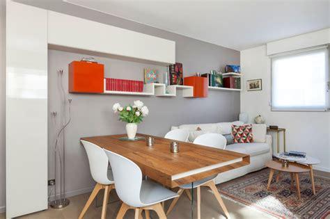 carrelage gris cuisine grande pièce à vivre avec bureau salon salle à manger