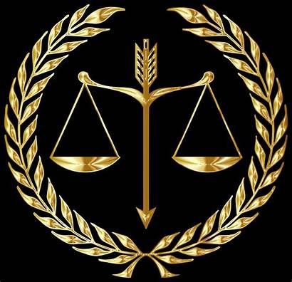 Gold Emblem Justice Clipart