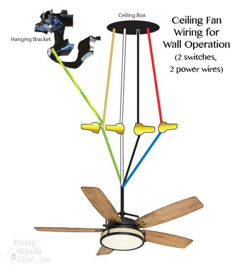 how to wire a ceiling fan switch how to install a ceiling fan pretty handy