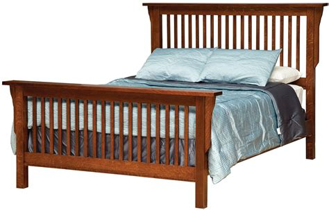 California King Mission-style Frame Bed With Headboard