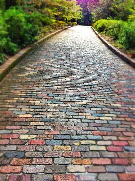 brick pathways landscaping brick path gardening pinterest