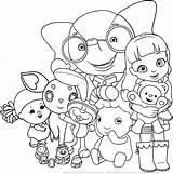 Ruby Rainbow Coloring Printable Drawing Friends Colouring Village Arcobaleno Sheets Colorpages sketch template