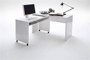 Schreibtisch Höhenverstellbar Weiß : schreibtisch kombination hochglanz weiss lackiert woody 41 01183 ebay ~ Markanthonyermac.com Haus und Dekorationen