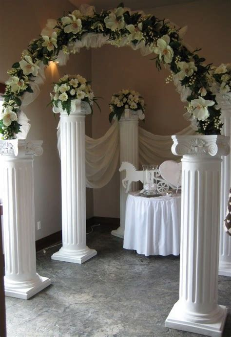 Pin By Vernette Edward On Decor In 2019 Wedding Columns