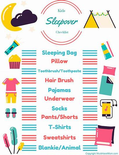 Sleepover Checklist Printable Packing Slumber Hacks Party