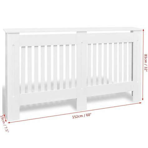 These decorative wall covering panels have a better lifespan and are soundproof. Modern Home Decor White MDF Radiator Cover Heating Wall Cabinet Fireplace Mantel   eBay