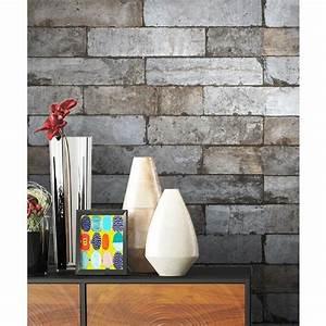 Papier Peint Brique Gris : papier peint brique grise inspirations et papier peint ~ Dailycaller-alerts.com Idées de Décoration