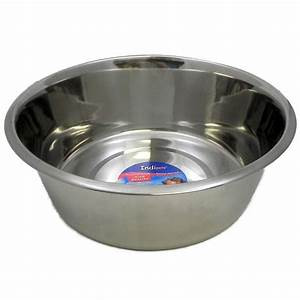 Stainless Steel Dog Food/Water Bowl 10 Qt - Dog Bowls and ...