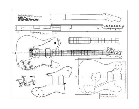 planos fender  telecaster custom pastrana guitars