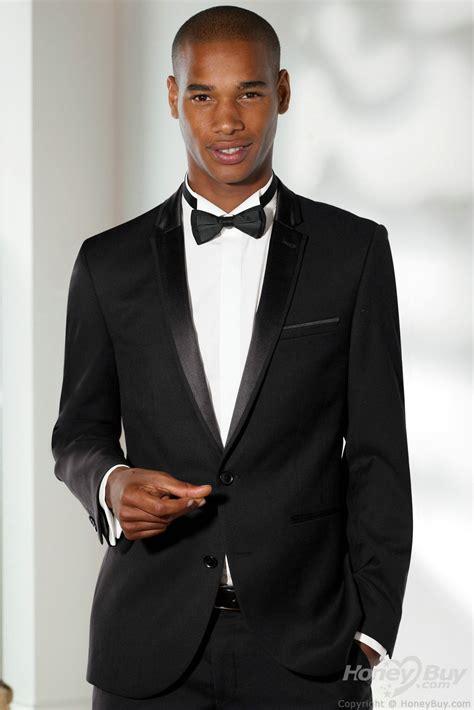 Notch Lapel Two Buttons Black Men Suits For Wedding