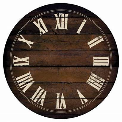 Brown Chestnut Clock