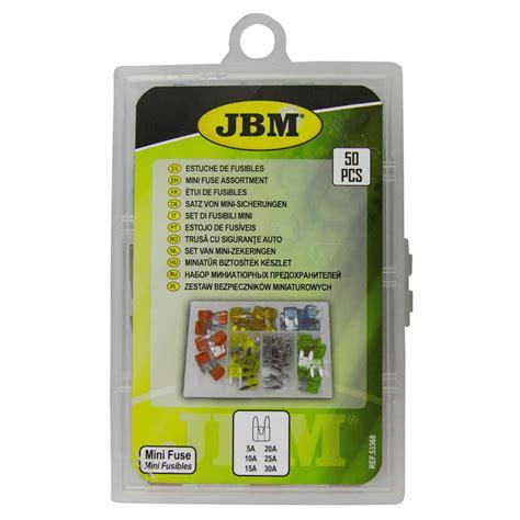 Mini drošinātāju komplekts automašīnām 50gab., JBM