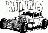 Coloring Rod Rat Pages Clipart Ratrod Cars Printable Cartoon Clip Masivy Coloringhome sketch template