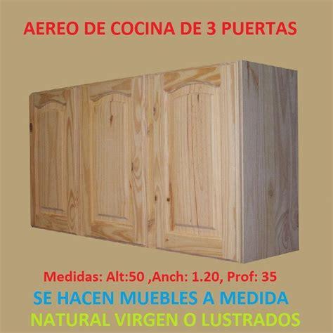 mueble aereo esquinero de cocina de madera maciza
