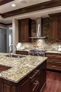 dark brown kitchen cabinets with granite countertops www With kitchen cabinet trends 2018 combined with anti stickers