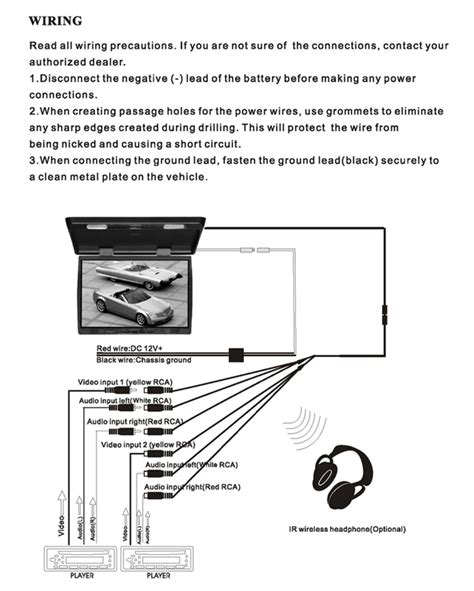 Flip Dvd Player Wiring Diagram by Pyle Plrd143if On The Road Overhead Monitors Roof