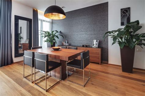 black accent walls dining rooms modern dining tables