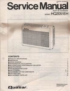 Quasar Hq2051eh Air Conditioner Service Manual