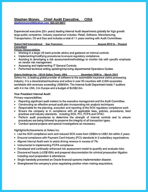 Auditor Resume by Awesome Understanding A Generally Accepted Auditor Resume