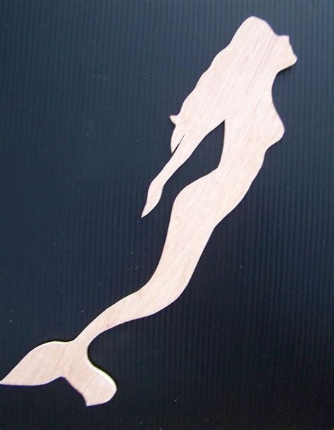 mermaid template mermaid woodie cut out 17x4