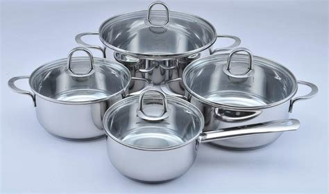 te  pcs german stainless steel cookware set oem china manufacturer tableware home