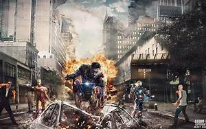 Voiture Iron Man : iron man voitures explosions new york city d truit robert downey jr fer patriot fonds d 39 cran ~ Medecine-chirurgie-esthetiques.com Avis de Voitures