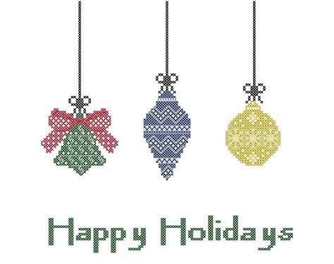 Holiday Cross Stitch Pattern