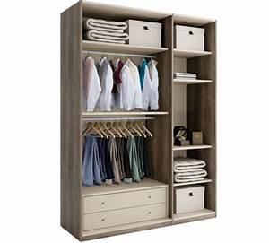 Solution Dressing Pas Cher : dressing galla ch ne gris 3 portes personnalisables ~ Premium-room.com Idées de Décoration