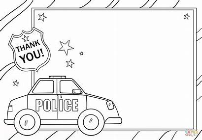 Thank Police Coloring Pages Officer Printable Crafts