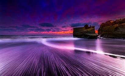 Sea Wallpapers Exposure Sunset Beach Background Nature