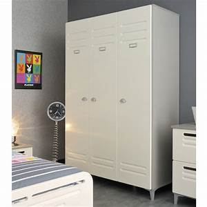 Armoire Metallique Chambre : armoire de chambre metal ~ Teatrodelosmanantiales.com Idées de Décoration