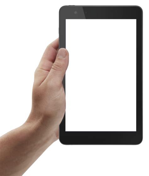 hand holding tablet png image pngpix