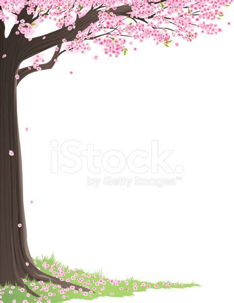 cherry blossom tree frame stock vector freeimagescom