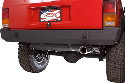 jeep cherokee rear bumper rcd suspension 10 05184 rcd rear bumper in black powder