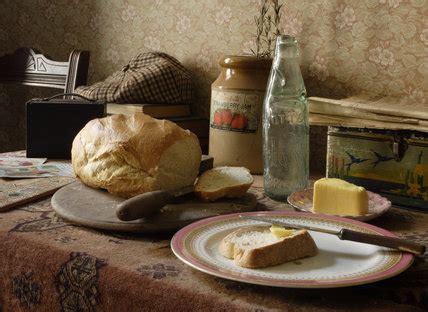 bread  butter   loaf   side table