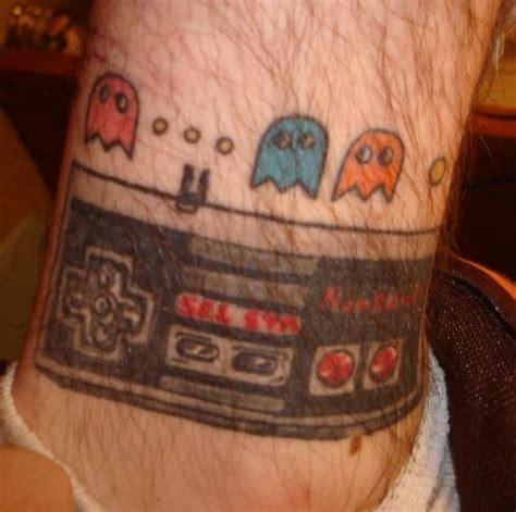retro tattoos dedicate skin  pac man bit rebels