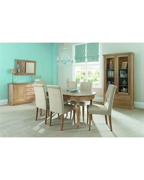 Heritage Extension Dining Table and Upholstered Chairs