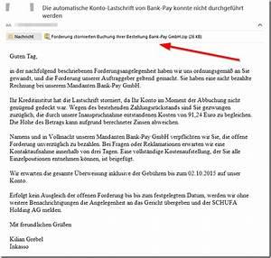 Bank Pay Rechnung : viruswarnung zu inkasso bank pay gmbh mimikama ~ Themetempest.com Abrechnung